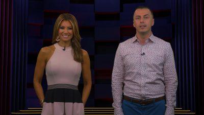 Image of Kimberly and Esteban hosting on set