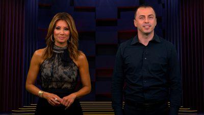 Image of Kimberly and Esteban hosting