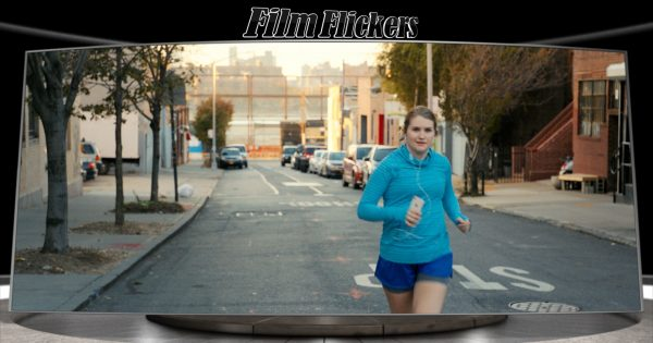 Image of movie character Brittany running on the street