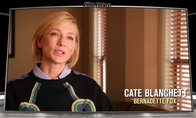 Image of Cate Blanchette getting interviewed