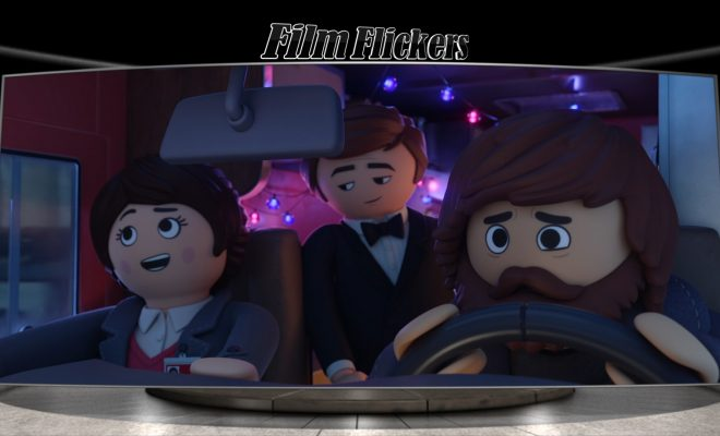 Image of three lego characters in a RV