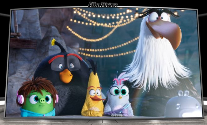 Image of some of the Angry Birds Movie 2 characters looking at something off screen