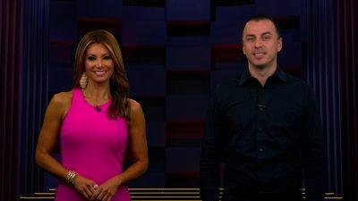 Image of Kimberly & Esteban on set