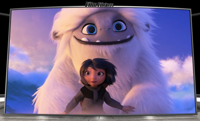 Image of the cartoon yeti and main character on top of a mountain