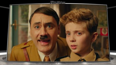 Image of Jojo next to his imaginary friend, Hitler