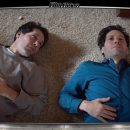 Image of Paul Rudd laying on the floor next to his clone