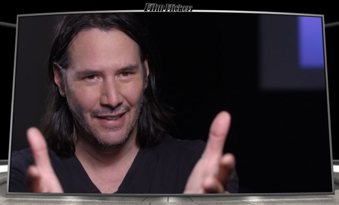 Image of Keanu Reeves talking about Toy Story 4
