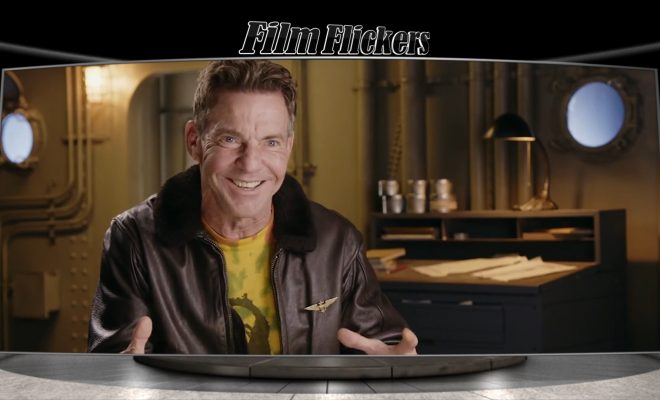 Image of Dennis Quaid talking about Midway movie
