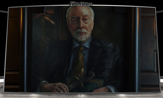 Image of Christopher Plummer in a painting from Knives Out