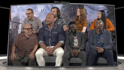Image of the Jumanji: The Next Level cast in a group interview