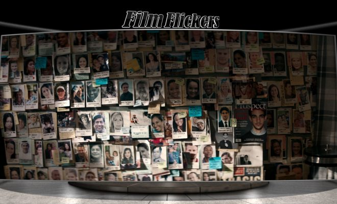 Image of wall showing images of missing people