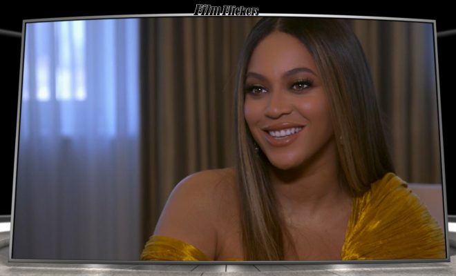 "Image of Beyonce during an interview about ""The Lion King"" movie"