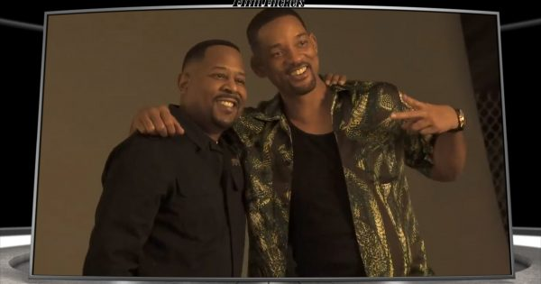 """Image of Martine Lawrence and Will Smith taking photos prior to shooting the film """"Bad Boys For Life"""""""