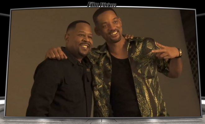 "Image of Martine Lawrence and Will Smith taking photos prior to shooting the film ""Bad Boys For Life"""