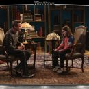 """Image of a kid interviewing Robert Downey Jr. about film """"Dolittle"""""""