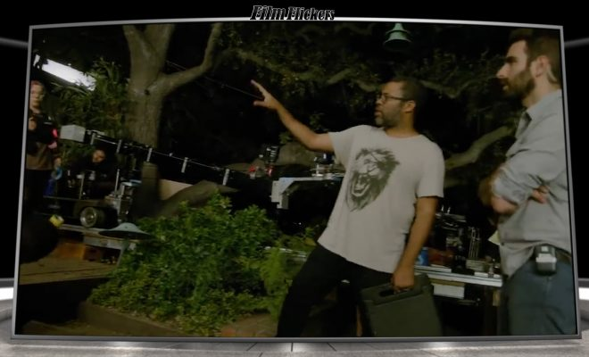 "Image of Jordan Peele directing on ""Us"" set"