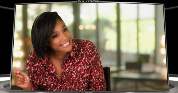 """Image of Tiffany Haddish during an interview about """"Like A Boss"""" film"""