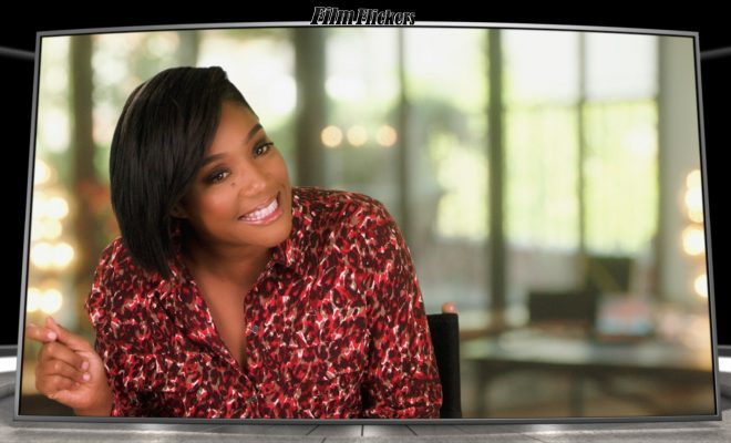 "Image of Tiffany Haddish during an interview about ""Like A Boss"" film"