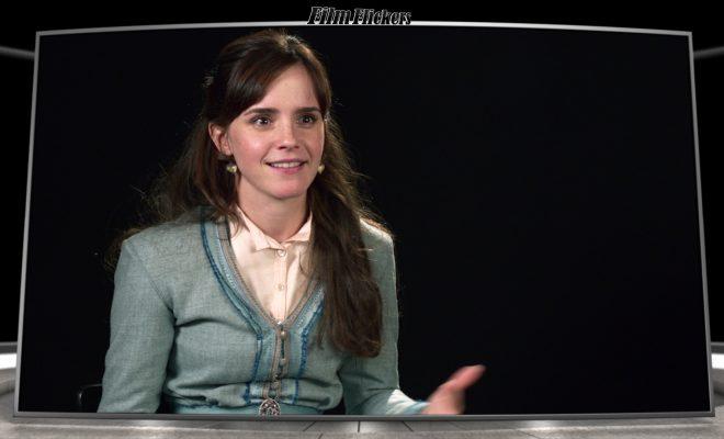 "Image of Emma Watson doing an interview about ""Little Women"" film"