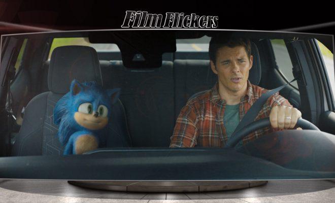 Sonic and James Marsden in James Marsden's truck