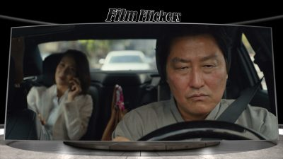 Kang-ho Song and Yeo-jeong Jo in the car together with Song driving