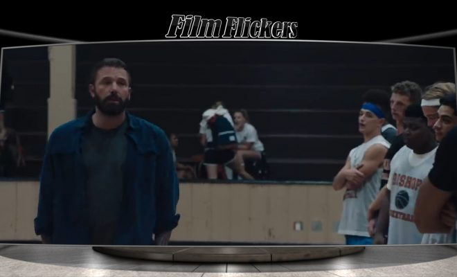 Ben Affleck talking to his basketball team in The Way Back