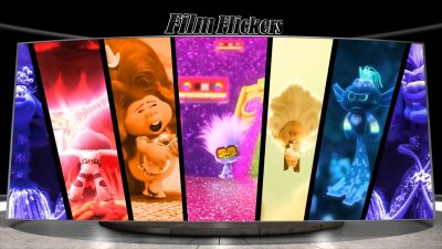 Image of seven split screens showing all music genre troll tribes