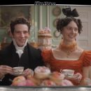 "Image of a couple having tea from the film ""Emma."""