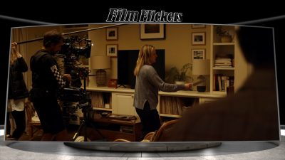 """Image of a behind the scenes look of Elisabeth Moss in """"The Invisible Man"""""""