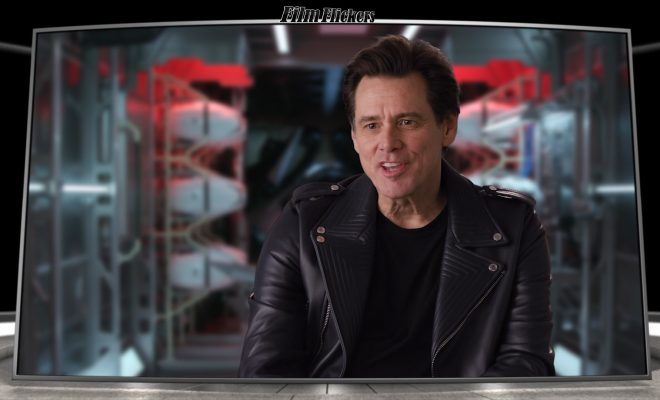 Jim Carrey talking in an interview for the Sonic the Hedghog movie