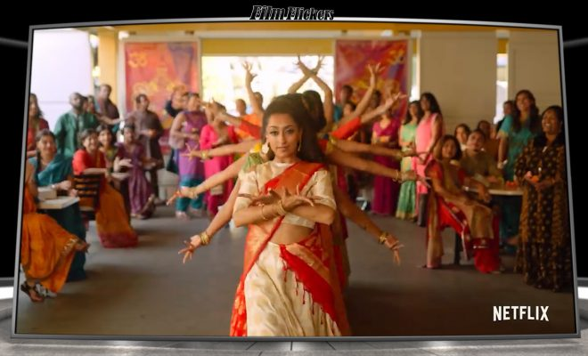 Image of girls dancing at an India-themed party