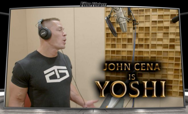 "Image of John Cena doing a voiceover for the film ""Dolittle"""