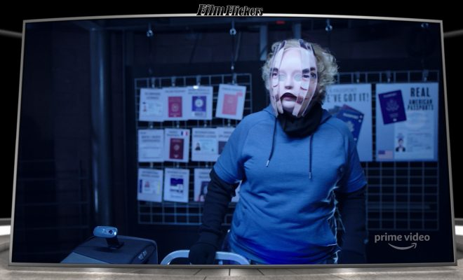 "Image of a female changing in digital form from the film ""Upload"""