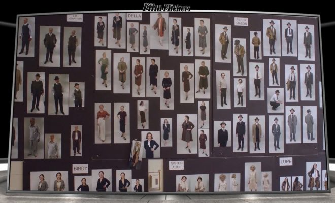 """Image of print cut outs of 1930's clothing style for the HBO series """"Perry Mason"""""""