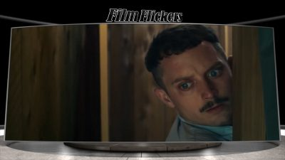 """Image of Elijah Wood who looks frightened in the film """"Come To Daddy"""""""