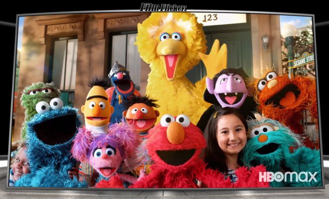 Image of Sesame Street characters in a group, showcasing one of the shows listed for HBO Max streaking platform promo